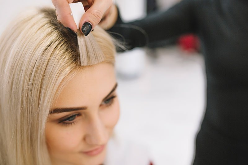 Natural Hair Extensions in gold coast