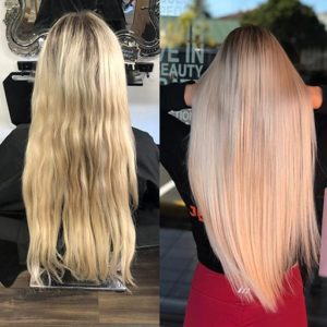 single process Hair Extensions in gold coast